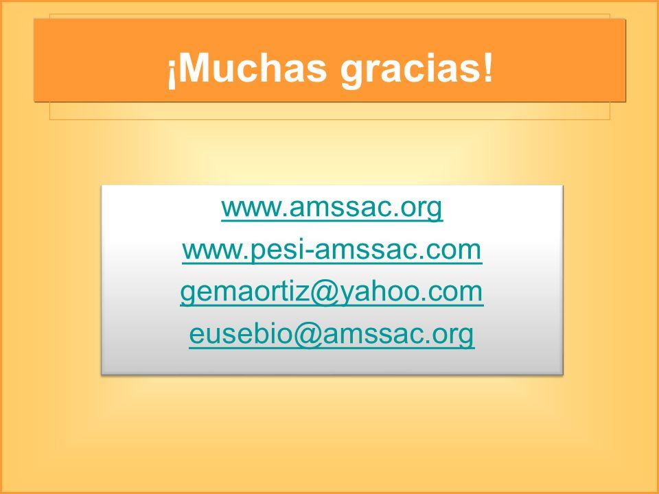 ¡Muchas gracias! www.amssac.org www.pesi-amssac.com