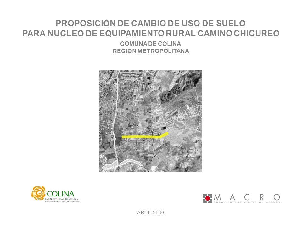 PROPOSICIÓN DE CAMBIO DE USO DE SUELO
