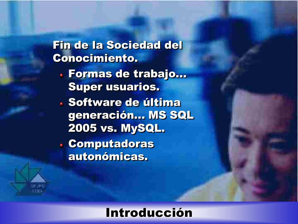 Introducción Fin de la Sociedad del Conocimiento.