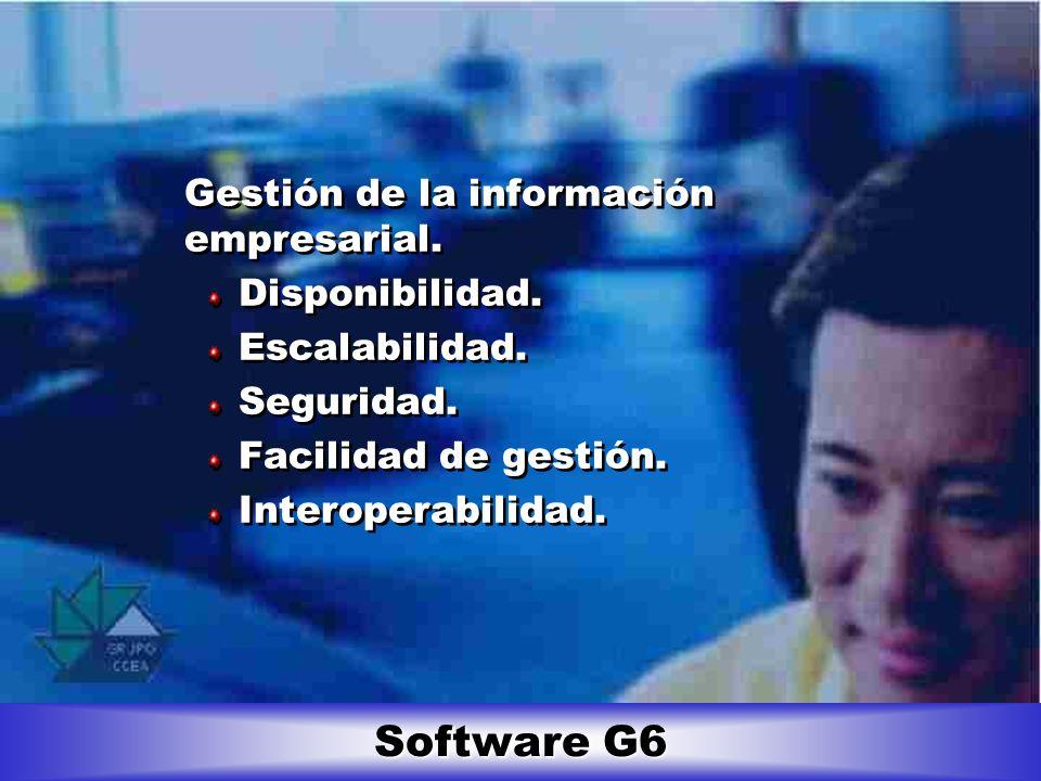 Software G6 Gestión de la información empresarial. Disponibilidad.