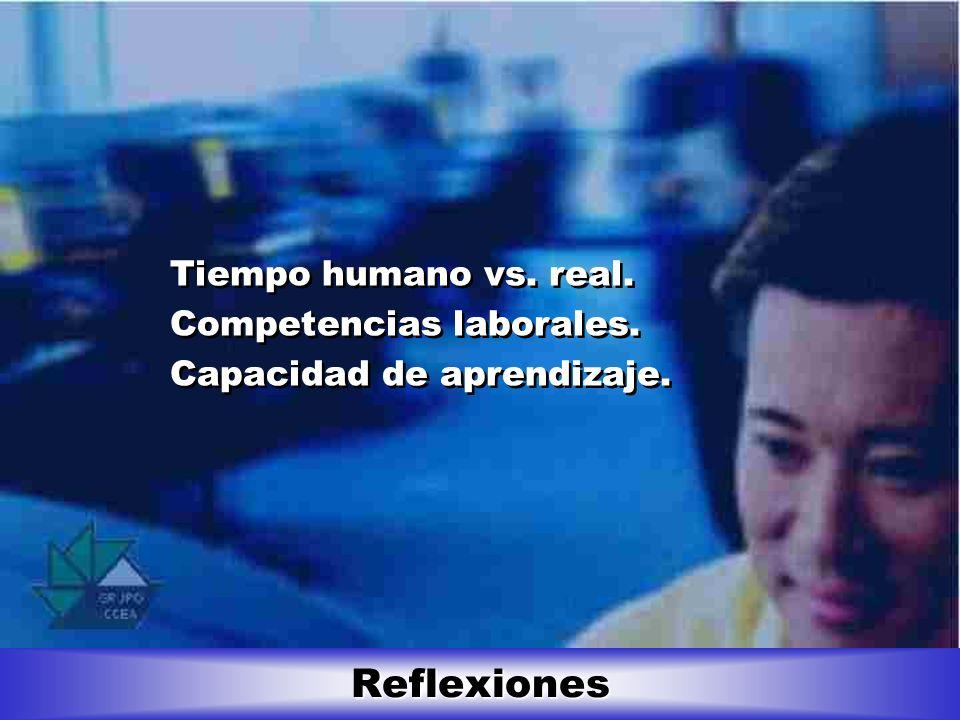 Reflexiones Tiempo humano vs. real. Competencias laborales.
