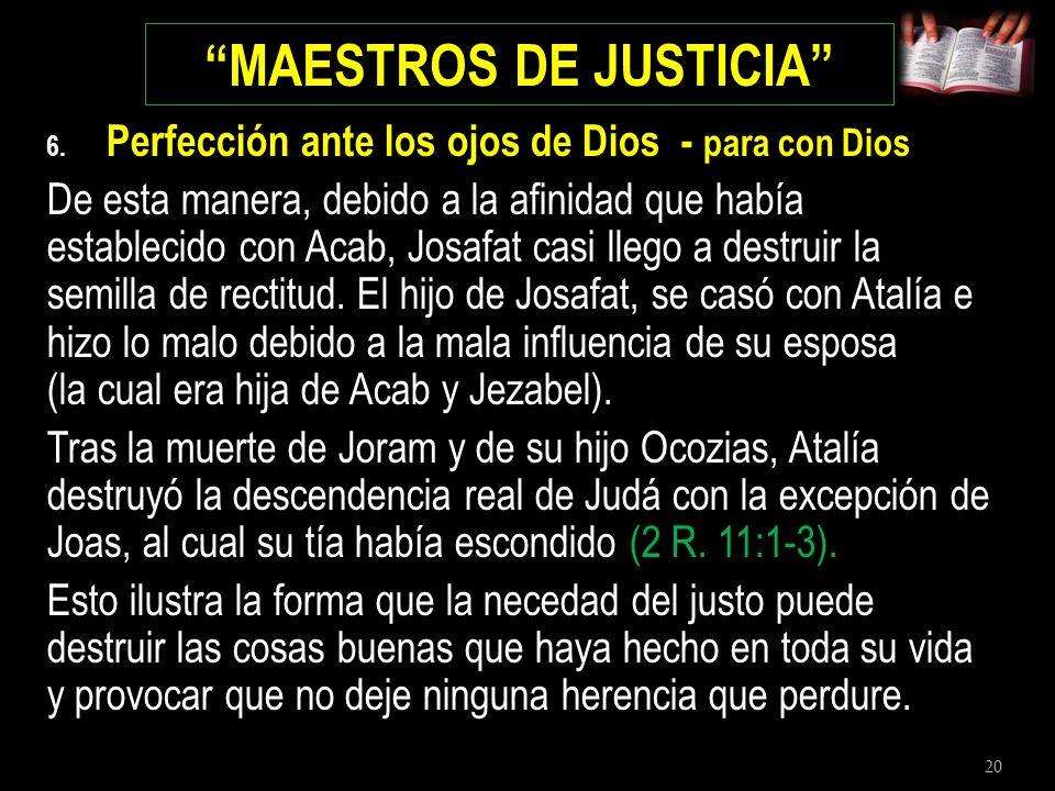 MAESTROS DE JUSTICIA