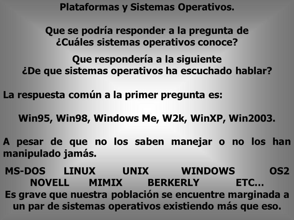 Plataformas y Sistemas Operativos.