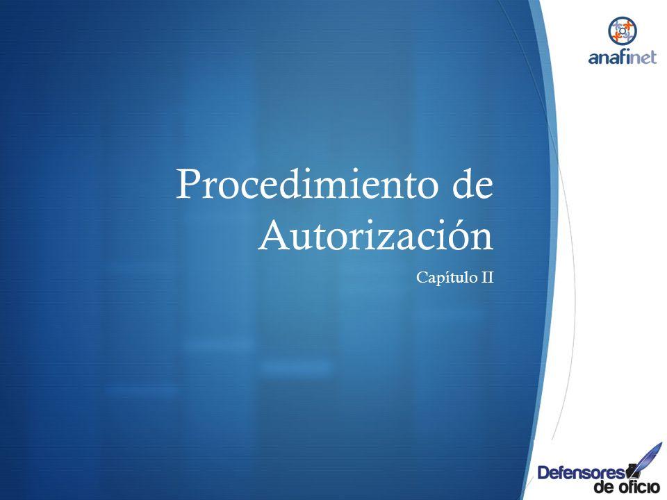 Procedimiento de Autorización