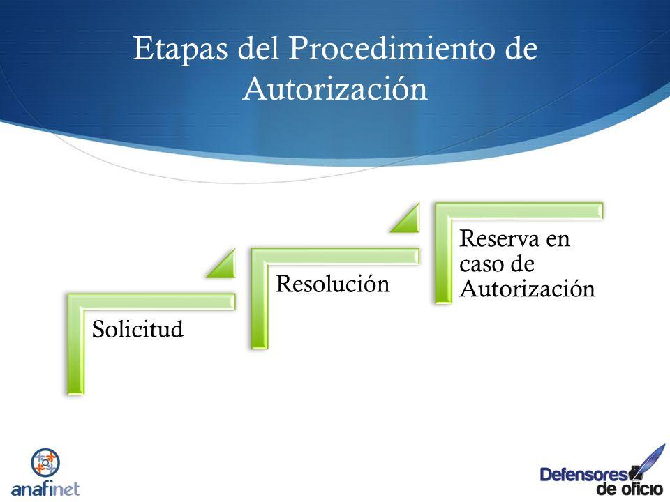 Etapas del Procedimiento de Autorización