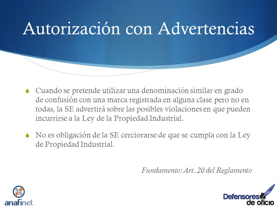 Autorización con Advertencias