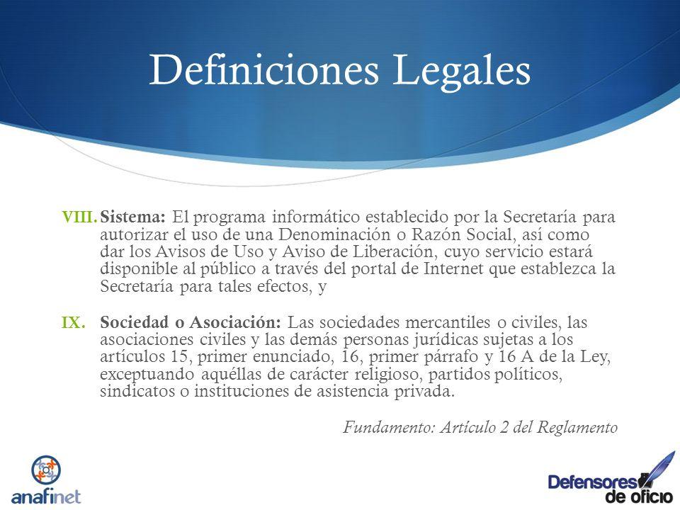 Definiciones Legales