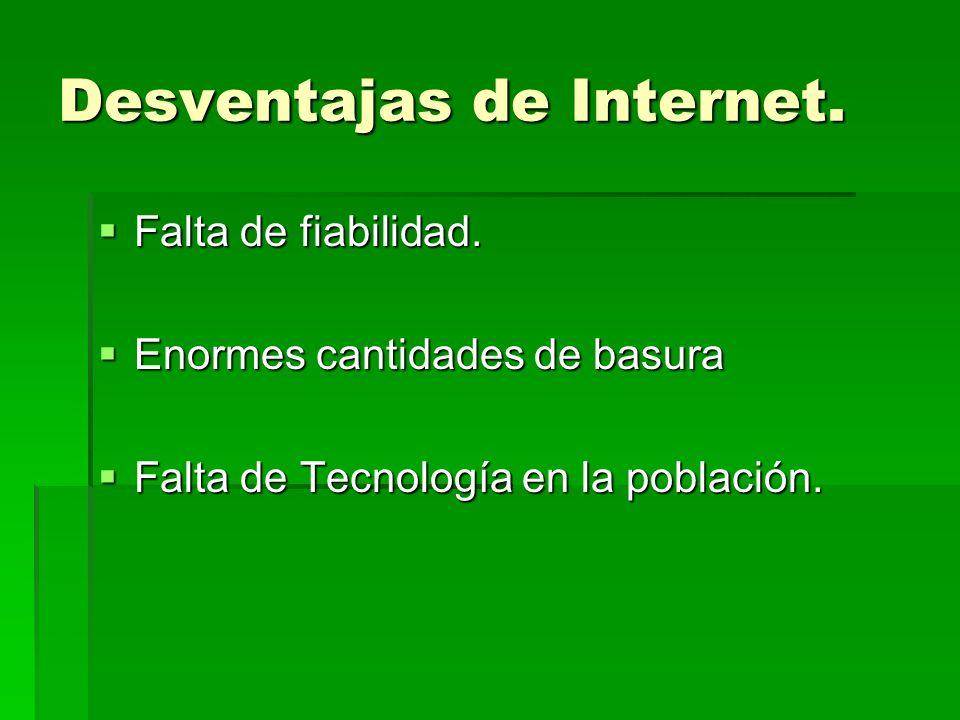 Desventajas de Internet.