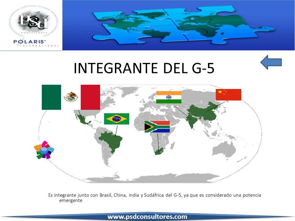 INTEGRANTE DEL G-5 www.psdconsultores.com