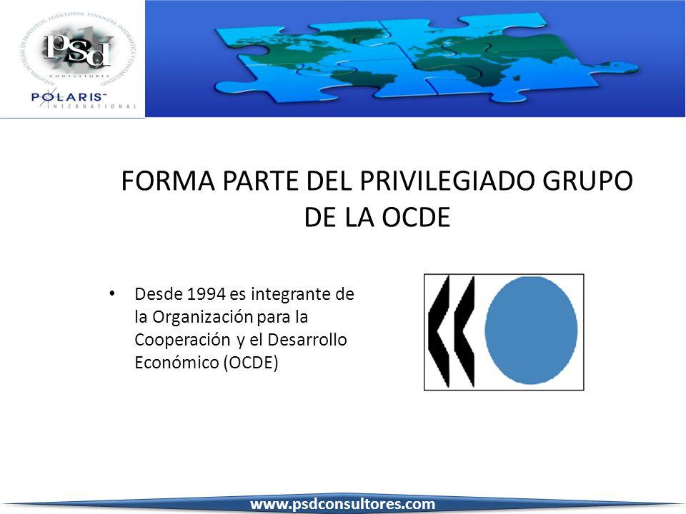 FORMA PARTE DEL PRIVILEGIADO GRUPO DE LA OCDE