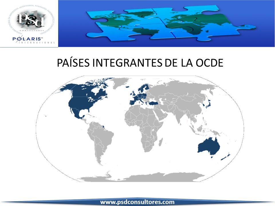 PAÍSES INTEGRANTES DE LA OCDE