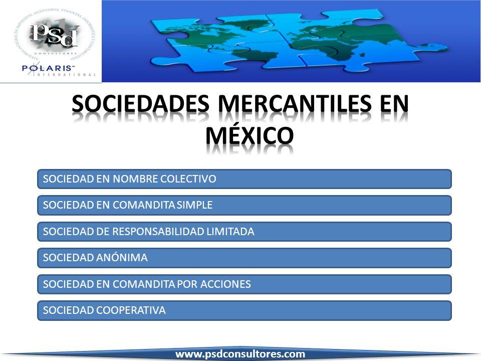 SOCIEDADES MERCANTILES EN MÉXICO