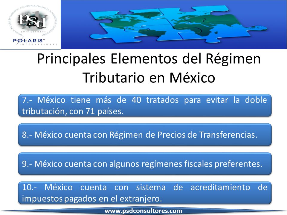 Principales Elementos del Régimen Tributario en México