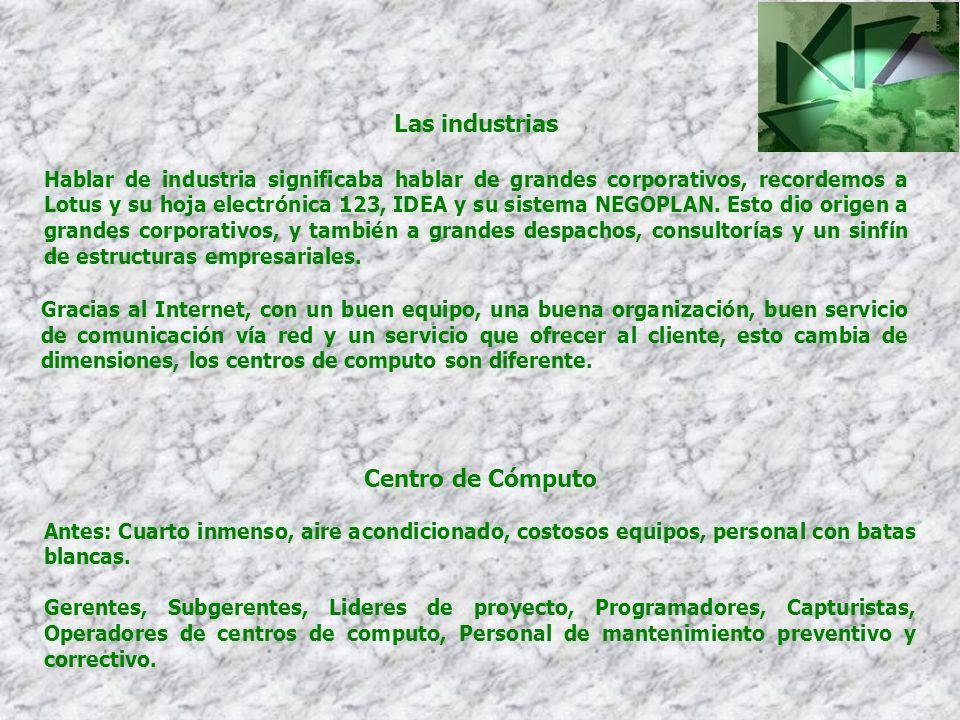 Las industrias Centro de Cómputo