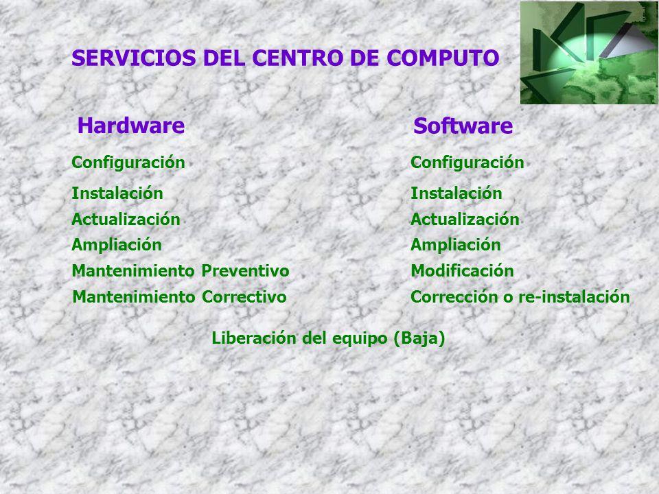 SERVICIOS DEL CENTRO DE COMPUTO