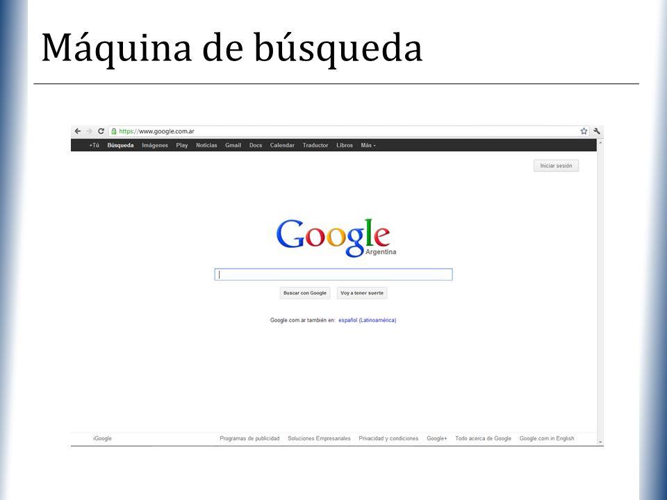 Máquina de búsqueda