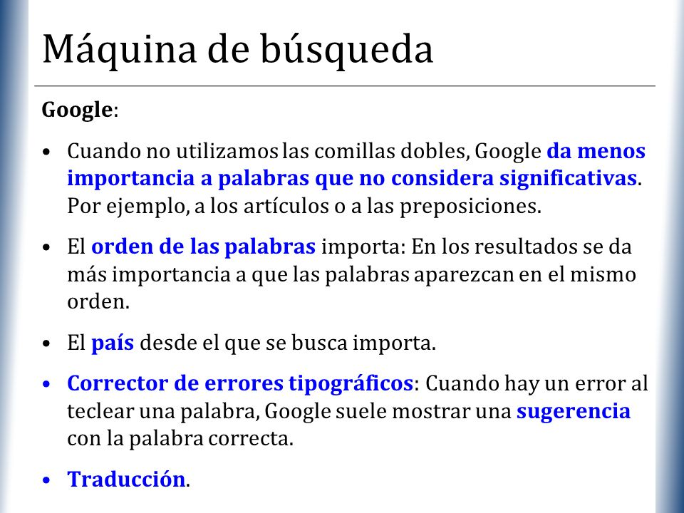 Máquina de búsqueda Google: