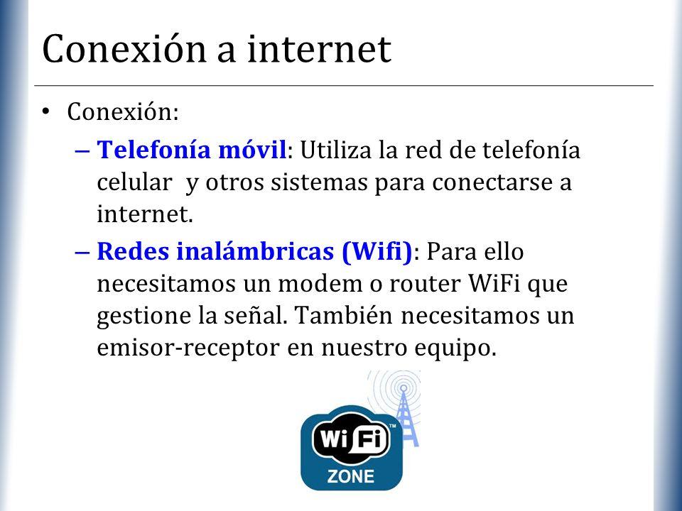 Conexión a internet Conexión: