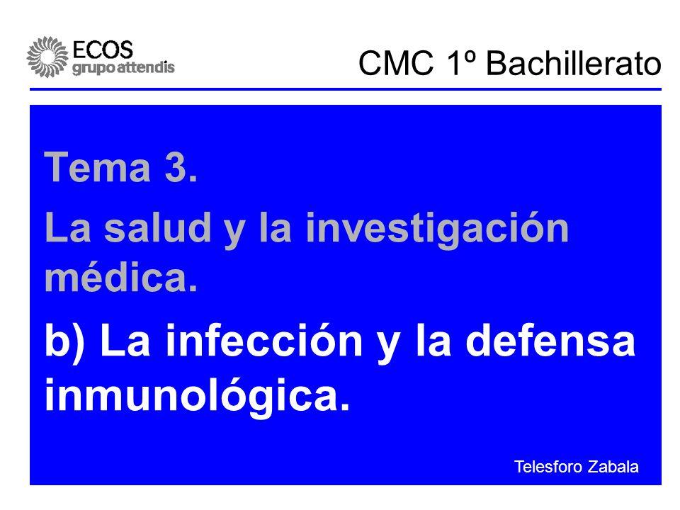 b) La infección y la defensa inmunológica.