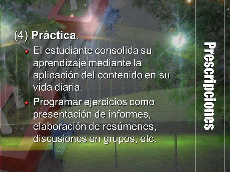Prescripciones (4) Práctica.