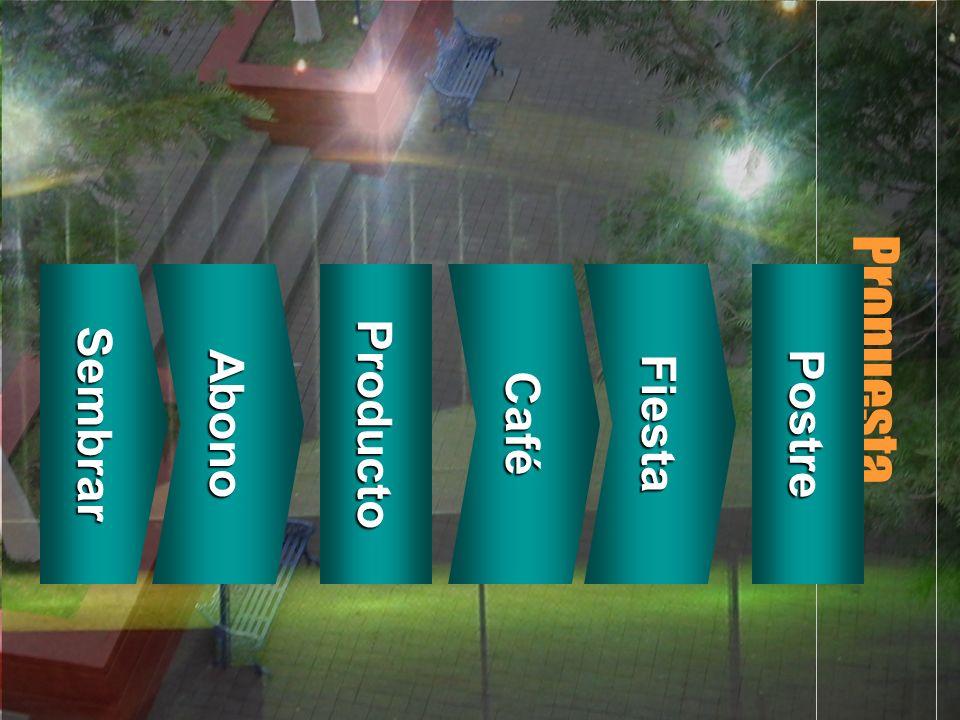 Propuesta Sembrar Abono Producto Café Fiesta Postre