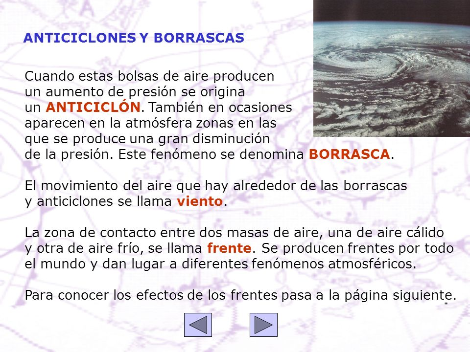 ANTICICLONES Y BORRASCAS
