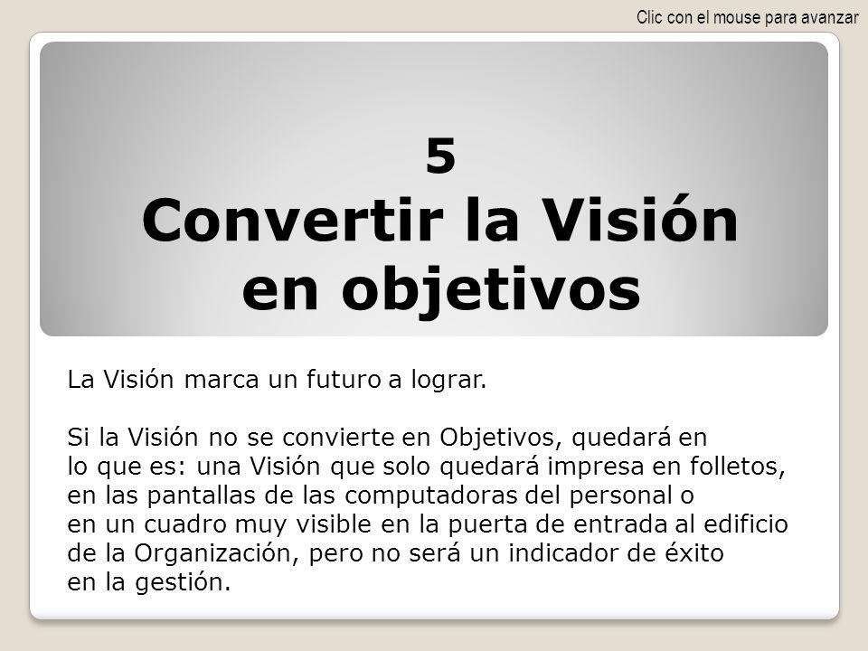 Convertir la Visión en objetivos