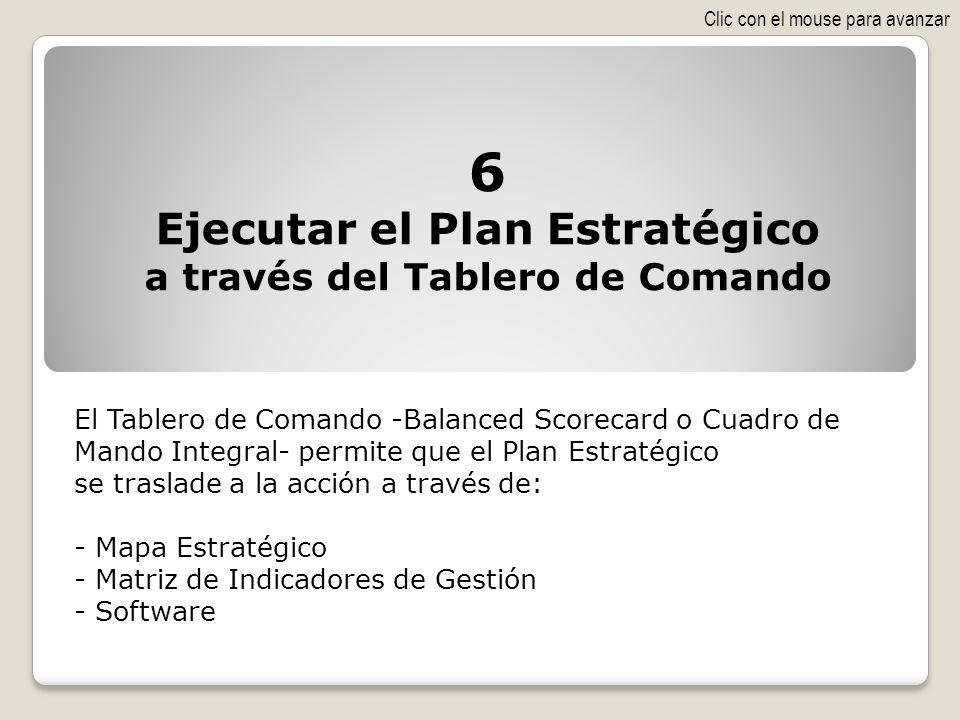 Ejecutar el Plan Estratégico a través del Tablero de Comando