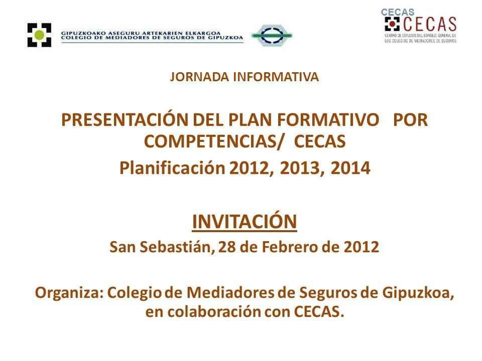 INVITACIÓN PRESENTACIÓN DEL PLAN FORMATIVO POR COMPETENCIAS/ CECAS