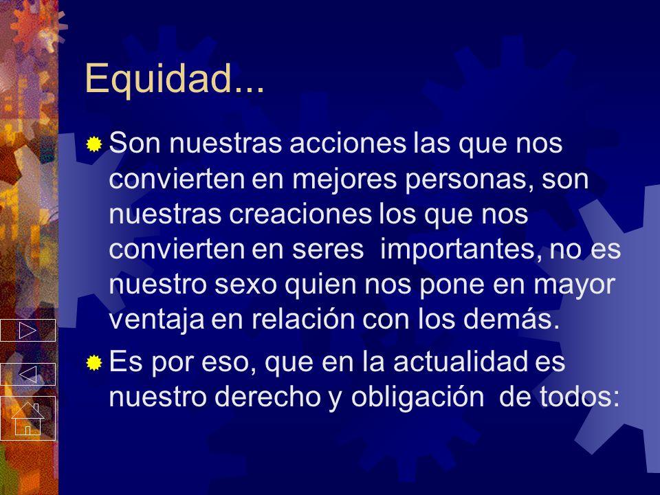 Equidad...