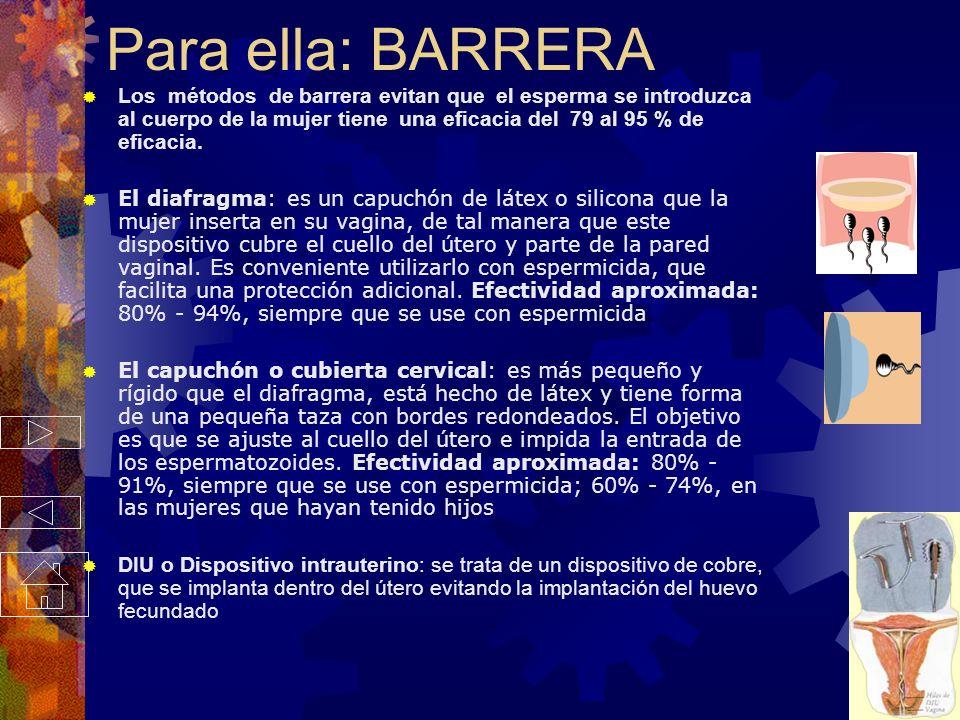 Para ella: BARRERA
