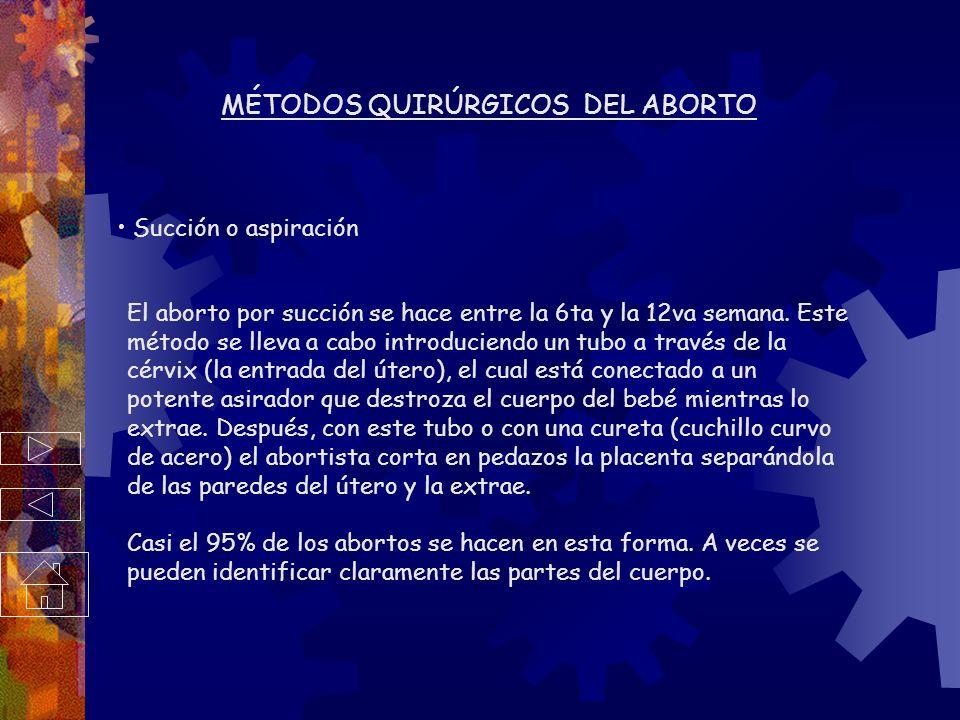 MÉTODOS QUIRÚRGICOS DEL ABORTO