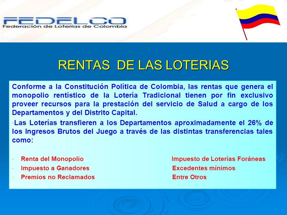 RENTAS DE LAS LOTERIAS
