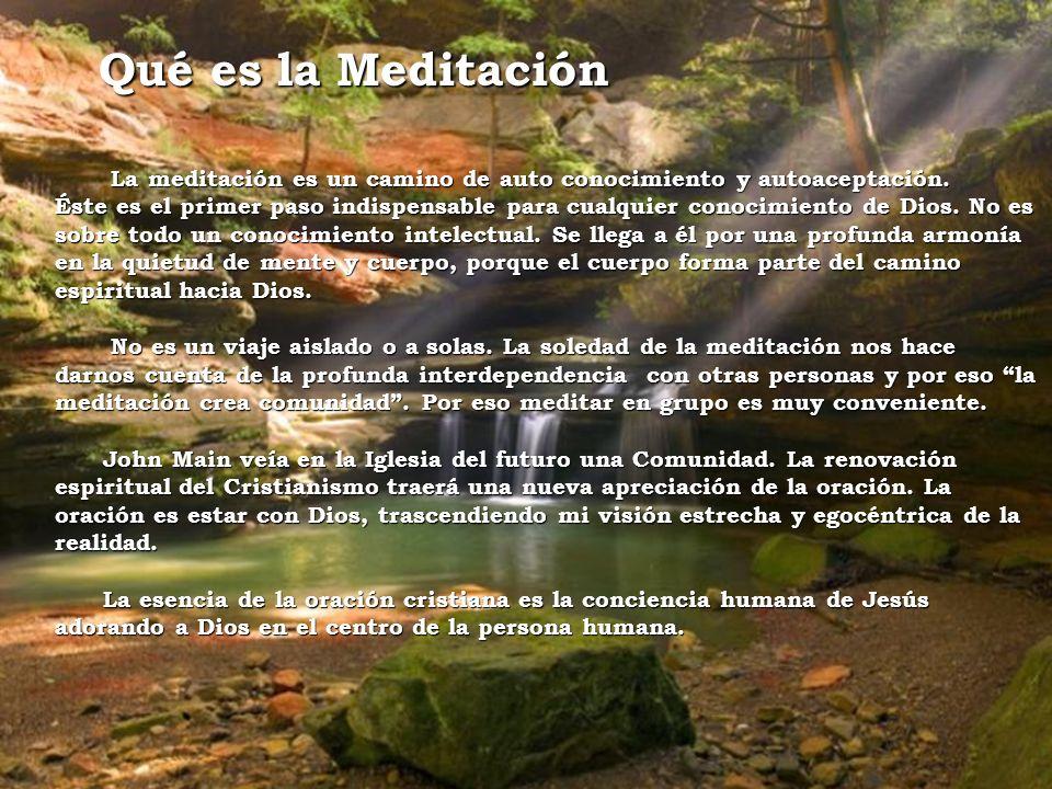 Qué es la Meditación La meditación es un camino de auto conocimiento y autoaceptación.