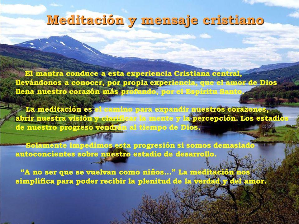 Meditación y mensaje cristiano