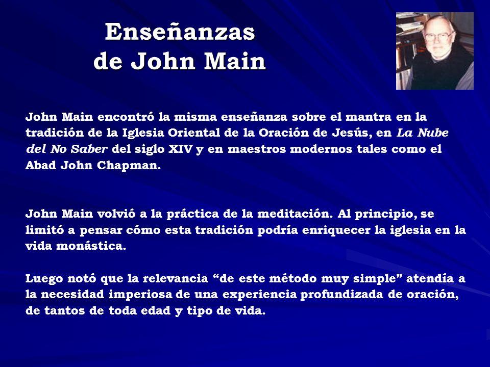 Enseñanzas de John Main