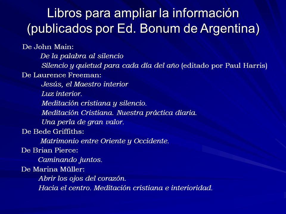 Libros para ampliar la información (publicados por Ed