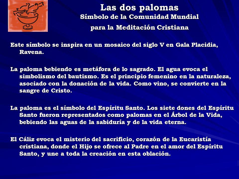 Las dos palomas Símbolo de la Comunidad Mundial para la Meditación Cristiana