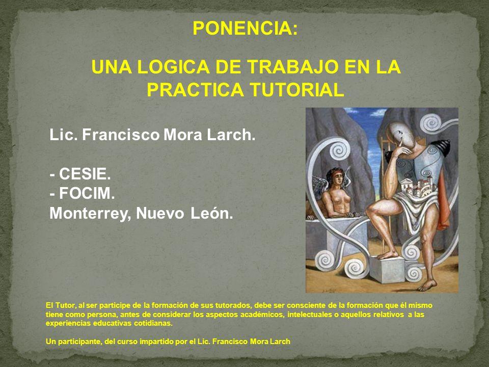 UNA LOGICA DE TRABAJO EN LA PRACTICA TUTORIAL