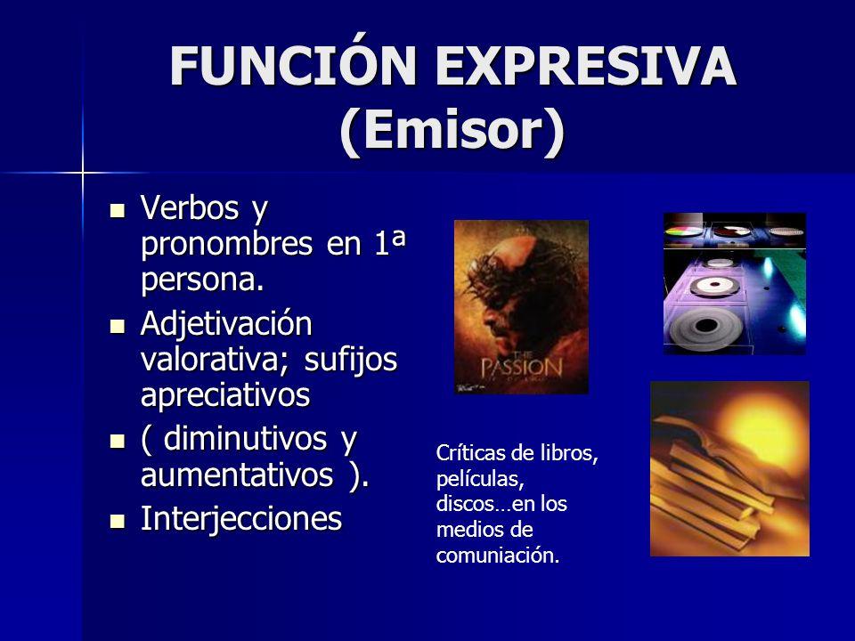 FUNCIÓN EXPRESIVA (Emisor)