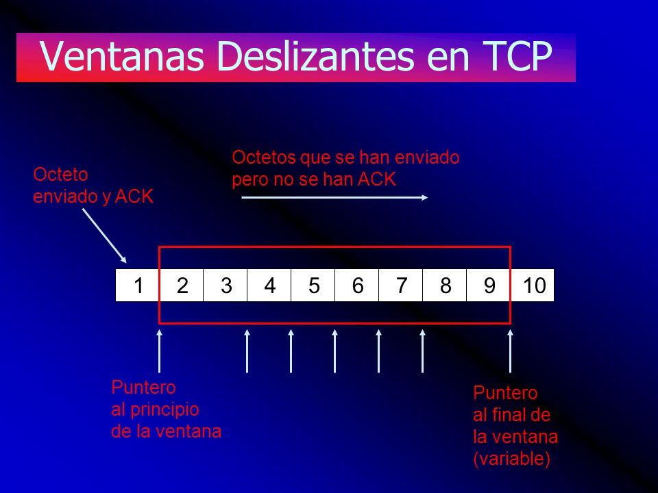 Ventanas Deslizantes en TCP