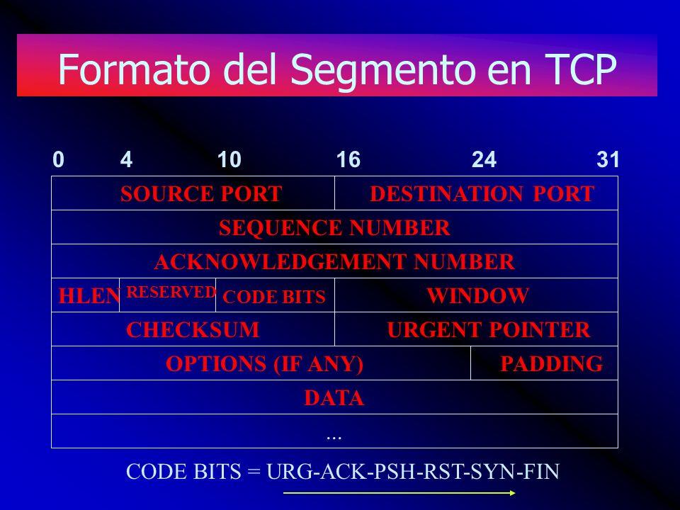 Formato del Segmento en TCP