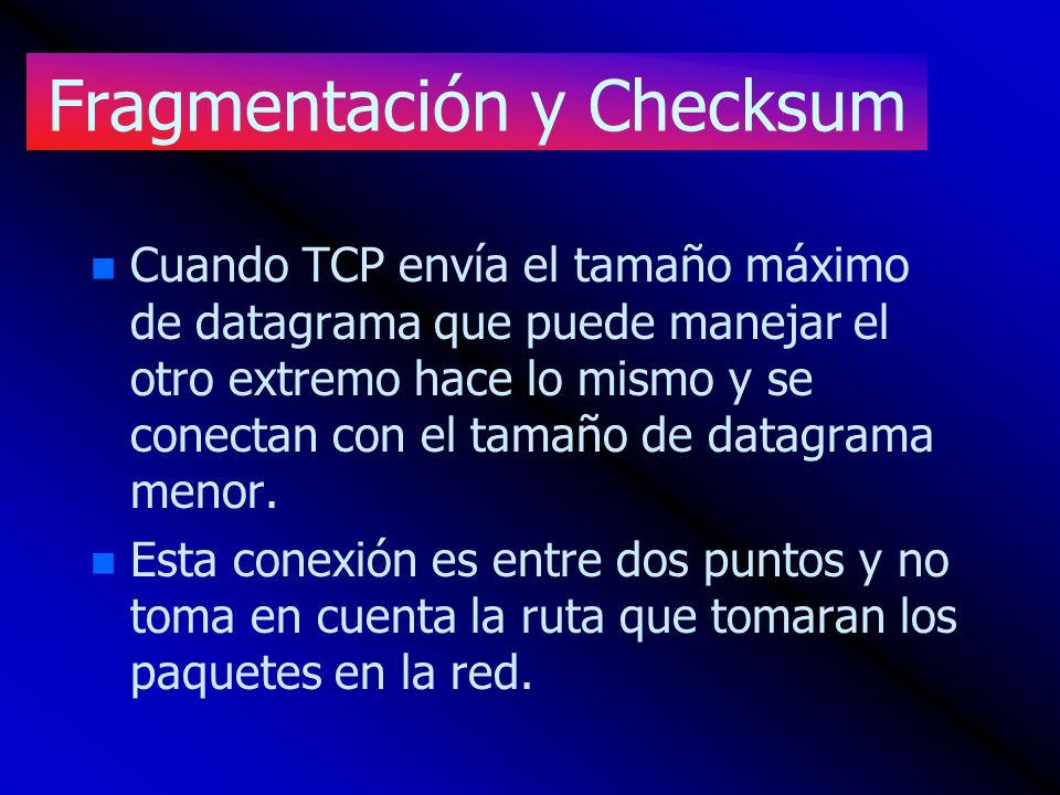 Fragmentación y Checksum