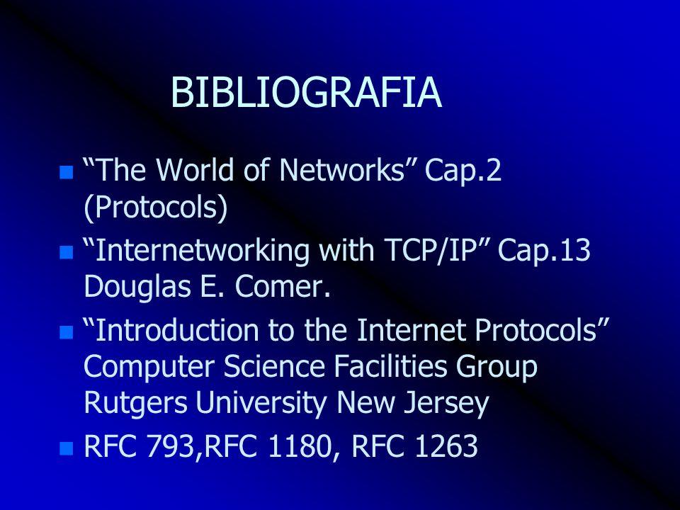 BIBLIOGRAFIA The World of Networks Cap.2 (Protocols)