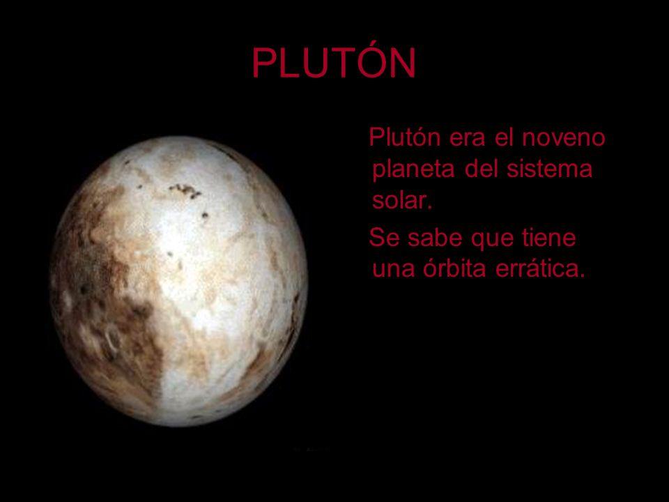 PLUTÓN Plutón era el noveno planeta del sistema solar.