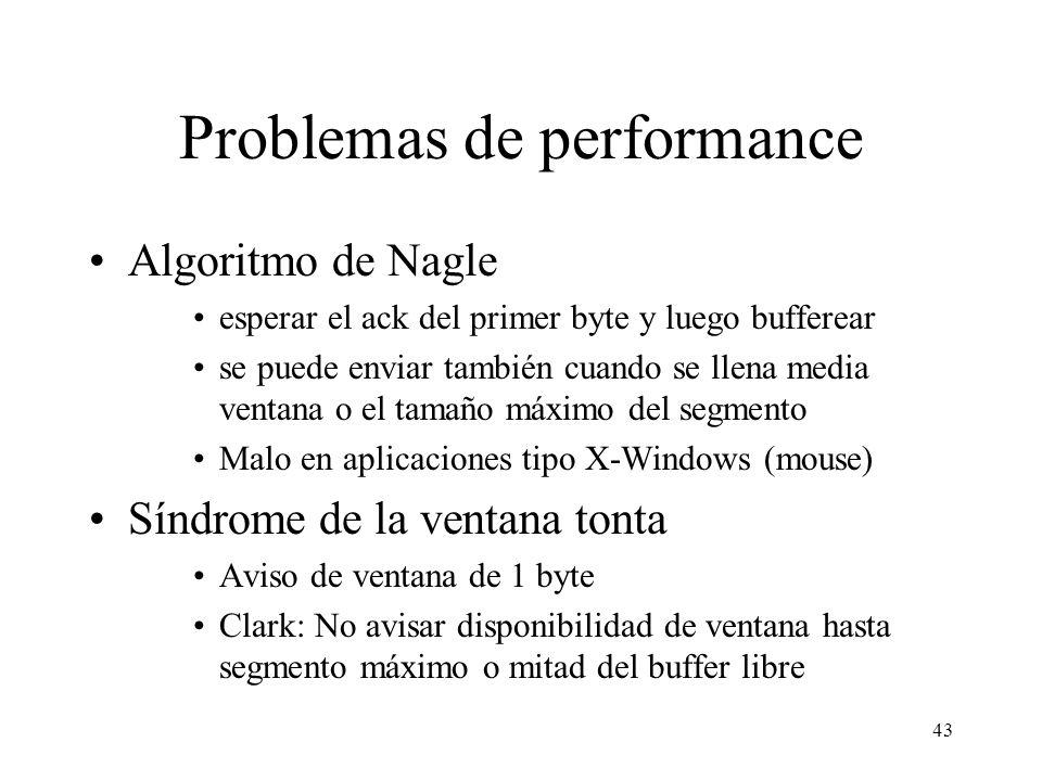 Problemas de performance