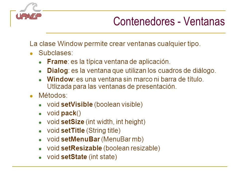 Contenedores - Ventanas