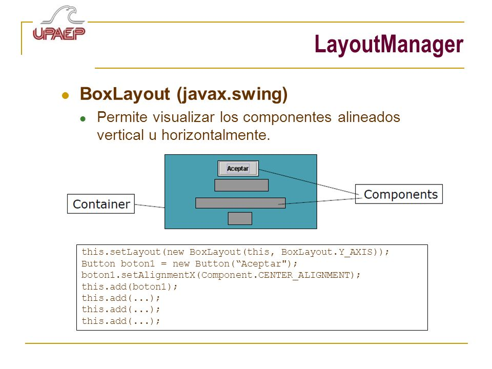 LayoutManager BoxLayout (javax.swing)