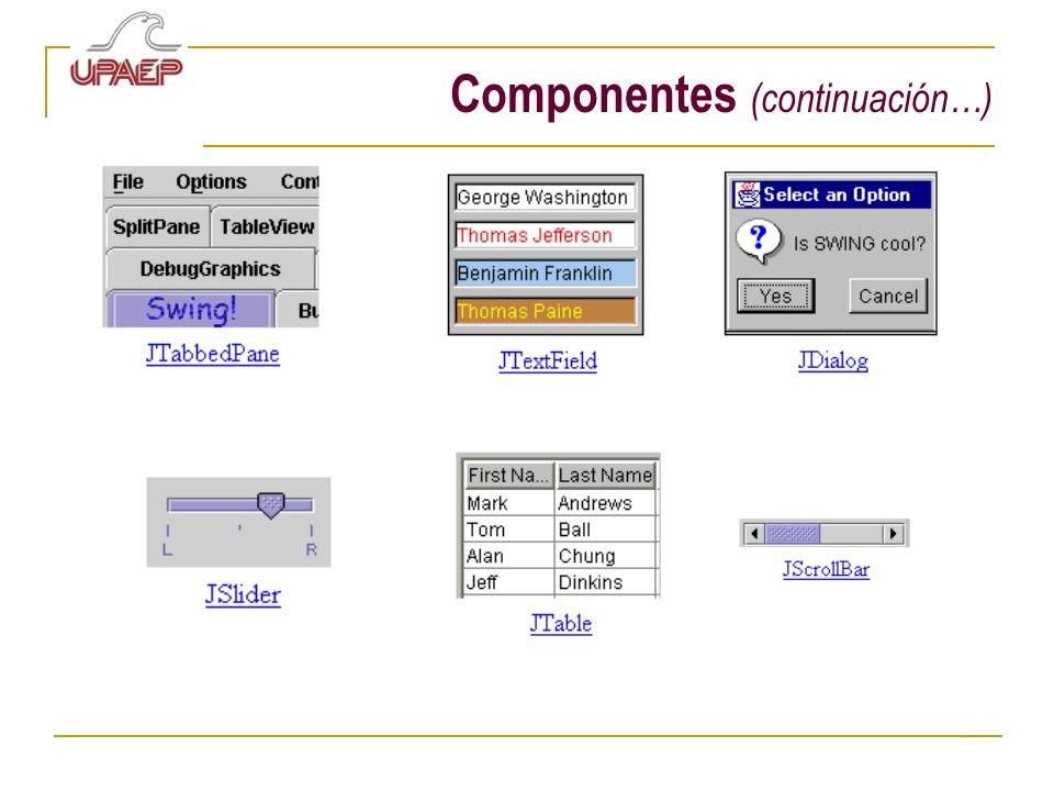Componentes (continuación…)