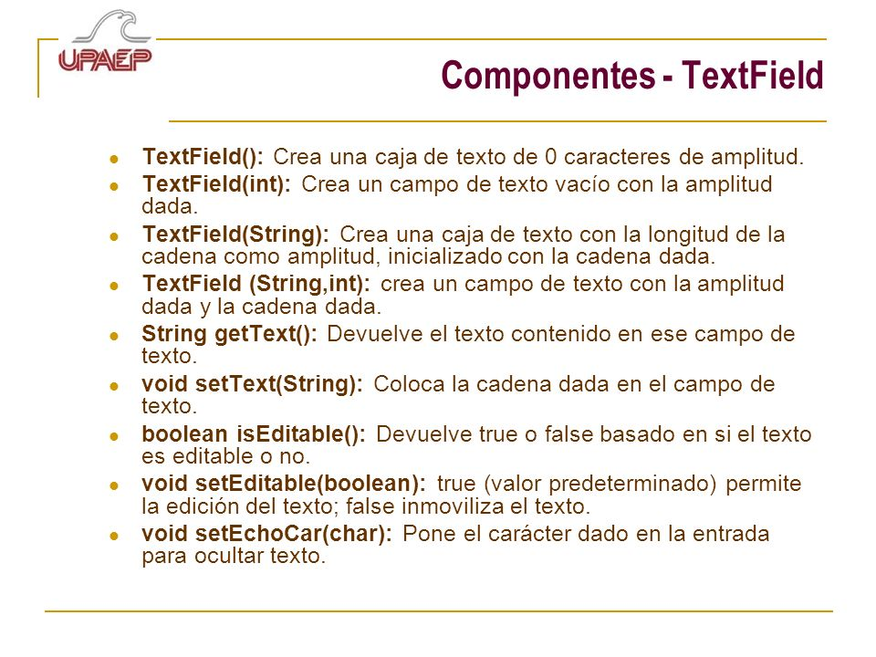 Componentes - TextField